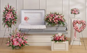 Arreglos fúnebres rosa