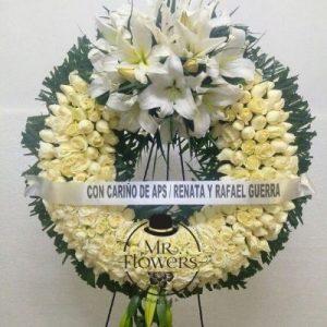 Corona Blanca Elegante en Tripie